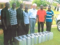 Reception of 10 masskits by Fr. F. Tillmann and the Deacons of the National Seminary, Kampala, Uganda 2nd May 2014