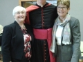 Bishop Fintan Monaghan with members of the Quin Clooney Maghera Apostolic branch.  Moira Scanlon and Nita Enright
