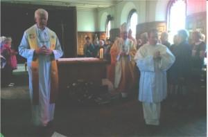Archibishop Martn with Fr. Liam Dunne SVD