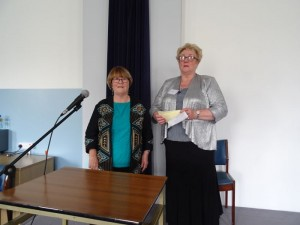 National President Anne Donaghy with guest speaker Sally Ruddy
